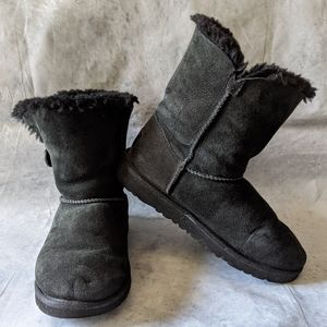 UGG Bailey Button II Sheepskin-Lined Suede Boots 6